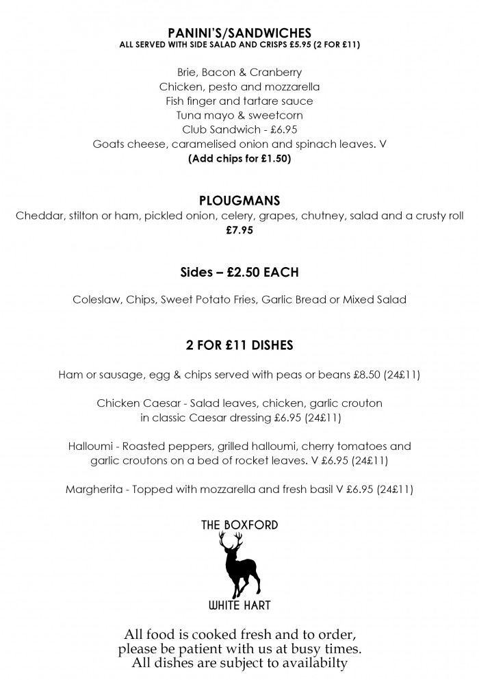 New Menu - Lunch Back a5