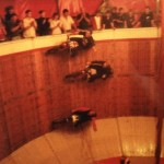 Ken Fox performing the Wall of Death